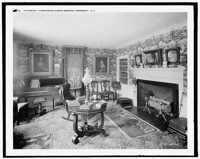 The Parlor, Thomas Bailey Aldrich Memorial, Portsmouth, N.H.