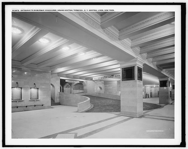 Entrance to suburban concourse, Grand Central Terminal, N.Y. Central Lines, New York