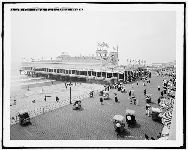 Steeplechase Pier and Boardwalk, Atlantic City, N.J.