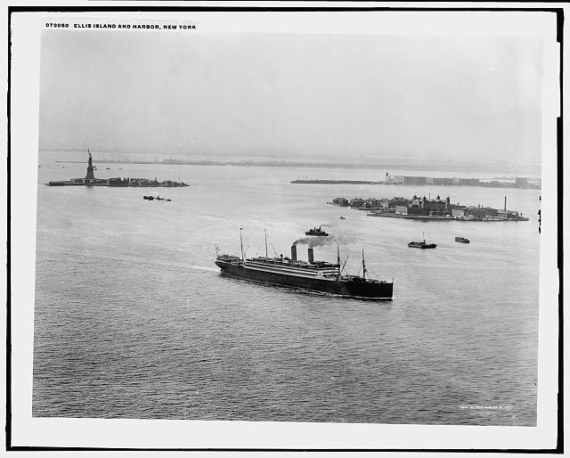 Ellis Island and Harbor, New York