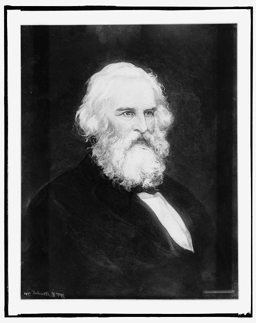 [Henry W. Longfellow, head and shoulders portrait]