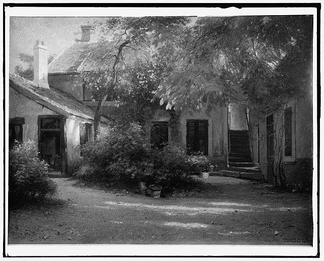 [The studio of Theodore Rousseau at Barbizon, France]