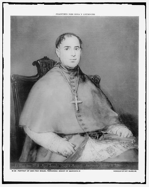 [Don Fray Miguel Fernandez, Bishop of Marcopolis, three-quarter-length portrait]