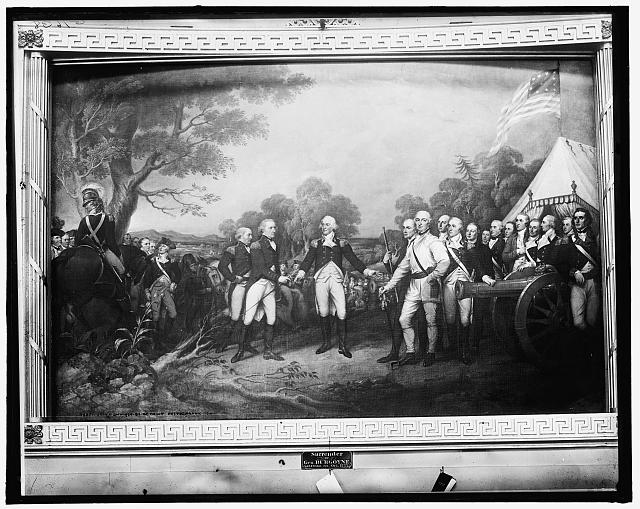 Surrender of Gen. Burgoyne, Saratoga, N.Y., Oct. 1777