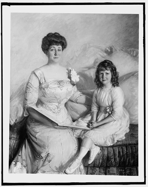 [Mrs. W.G. Henry and daughter]