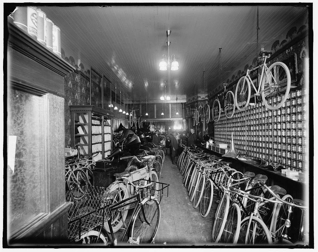 Detroit Bike Shop Circa 1912 Vintage Photo TreeHugger