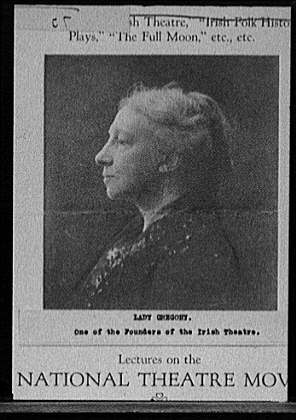 Lady Gregory, one of the founders of the Irish theatre