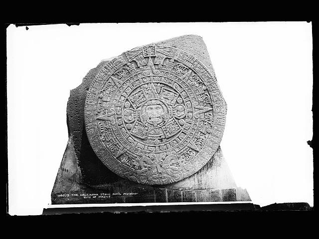 The calendar stone, Nat'l. Museum, City of Mexico