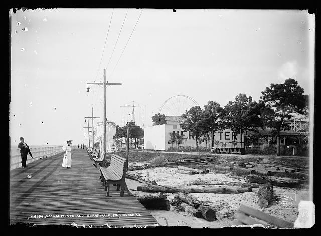 Amusements and boardwalk, Pine Beach, Va.