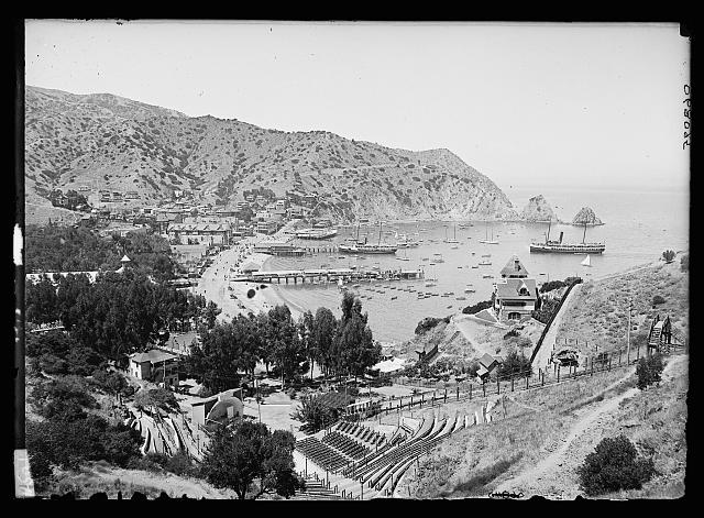 [Harbor and Avalon Greek Theater, Avalon, Catalina Island, Calif.]