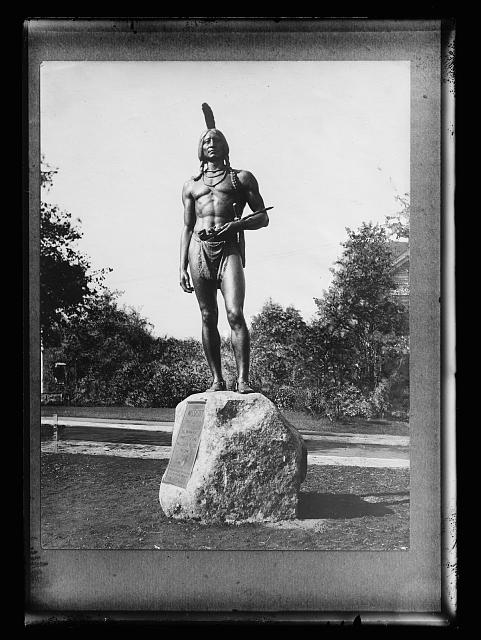 [Statue to Massasoit, Plymouth, Mass.]