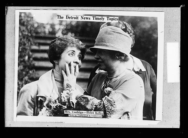 The Detroit news topics.  Mrs. Coolidge, Helen Keller