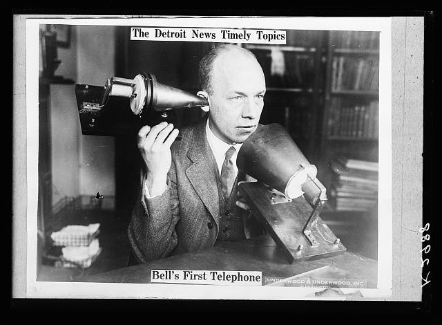 The Detroit news timely topics.  Bell's first telephone