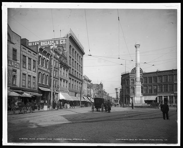 Main Street and Market Square [i.e. Commercial Place], Norfolk, Va.