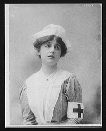 [Woman in Red Cross nurse's uniform]