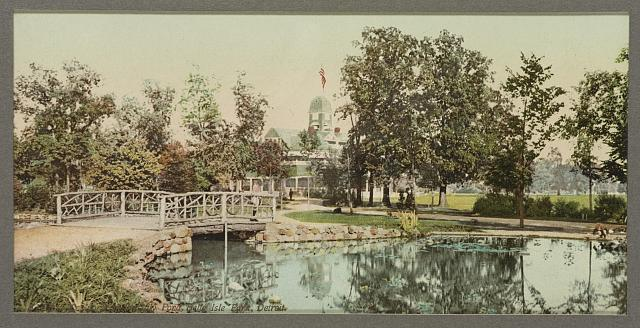 Casino from the lily pond, Belle Isle Park, Detroit