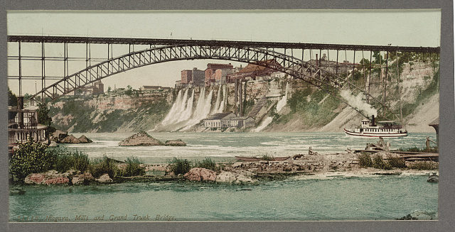 Niagara, mills and Grand Trunk [i.e. Upper Steel Arch] Bridge