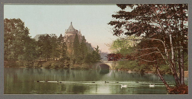 A Lake view in Central Park, New York