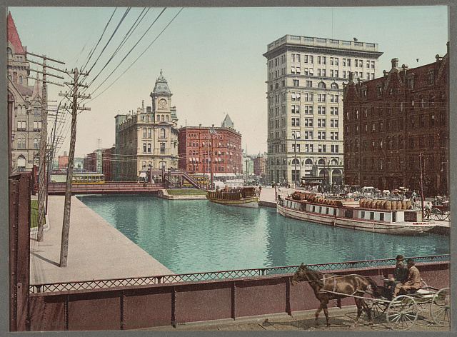 Erie Canal at Salina Street, Syracuse