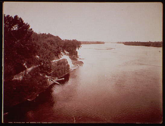 Wisconsin River near Merrimac, Wis. looking down
