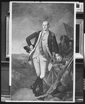 [George Washington at the Battle of Princeton, full-length portrait painting]