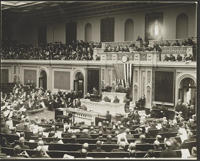 [Session of the House of Representatives in the U.S. Capitol]