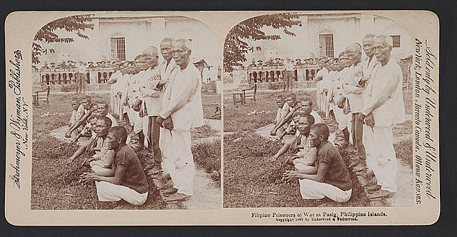 Filipino prisoners of war at Pasig, Philippine Islands