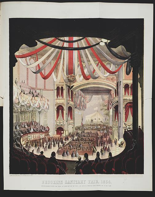 Brooklyn Sanitary Fair, 1864 Interior view of the Academy of Music, as seen from the dress circle /