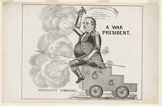 A war president. Progressive democracy