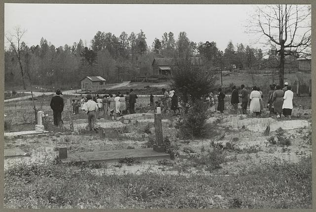 Heard County, Ga. The funeral of a nineteen-year-old Negro sawmill worker