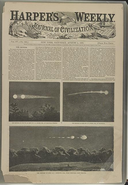 The meteor. The meteor of July 20, as seen by J. A. Adams, Esq., at Saratoga Springs. The meteor as seen by S. P. Avery, Esq., at Brooklyn. The meteor as seen by J. M'Nevin, Esq., near Bedford, Long Island