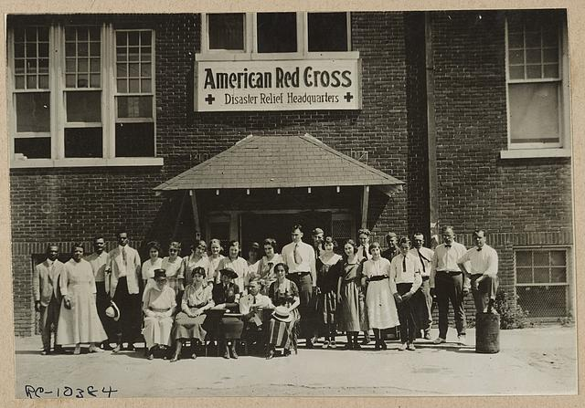 Headquarters staff, American Red Cross Disaster Relief Hdqs., Tulsa, Okla., after the race riot of June 1921