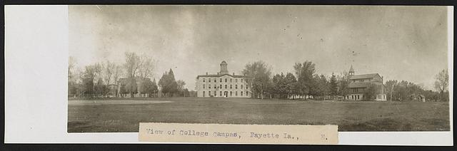 View of college campas [i.e., campus], Fayette, Ia.