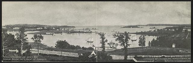 Pemaquid Harbors and John's Bay showing ancient settlement of Pemaquid