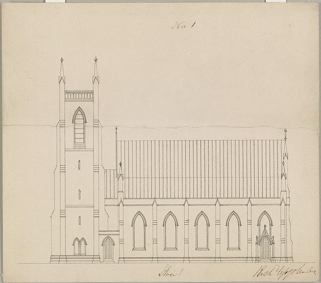 [Grace Church (Brooklyn, New York). Side elevation]