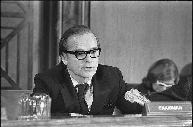 [Alan Greenspan testifying before the House Senate Economic Committee, Washington, D.C.]