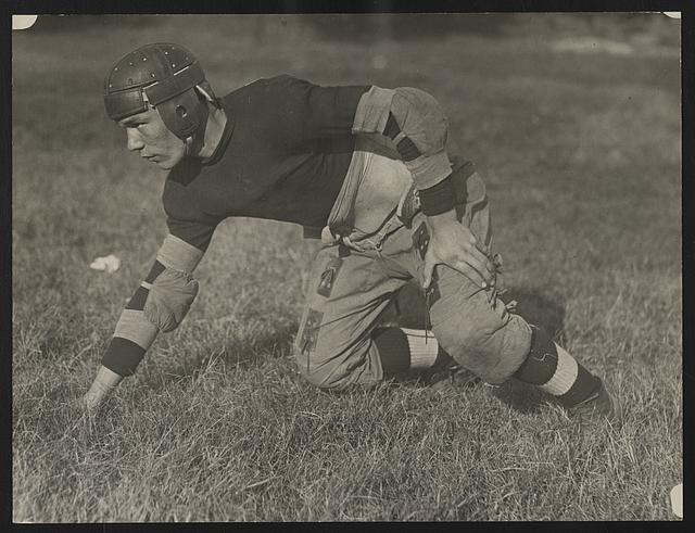 [M. Capper, guard on the football team at Eastern High School, Washington, D.C.]