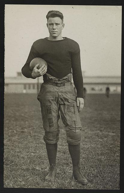[Hamilton, halfback on the football team at U.S. Naval Academy, Annapolis, Maryland]