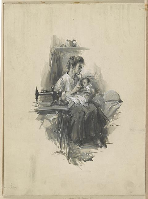 Sophy and the baby in the tenement