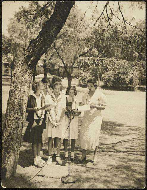 Students with Miss Jovita Gonzales, St. Mary's Academy, San Antonio, Texas