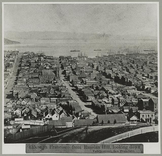 San Francisco from Russian Hill, looking down Vallejo Street