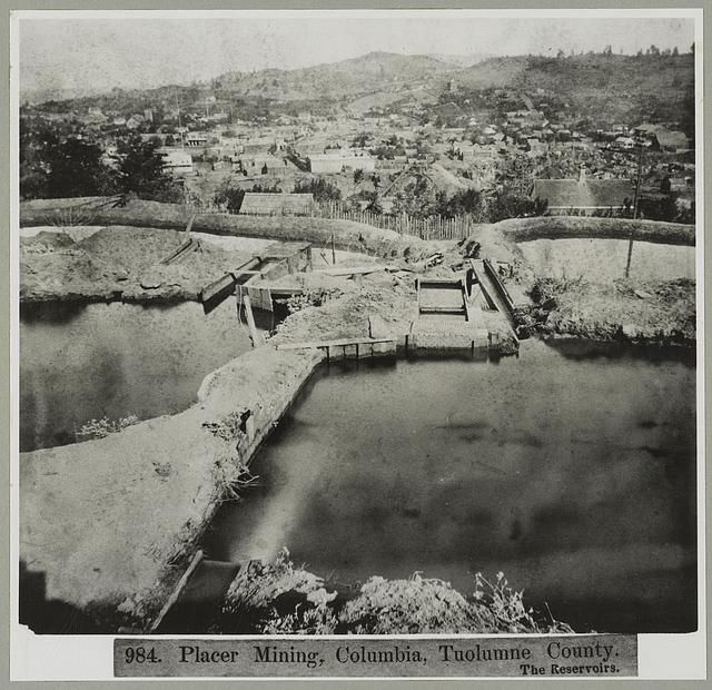 Placer mining, Columbia, Tuolumne County. The Reservoirs