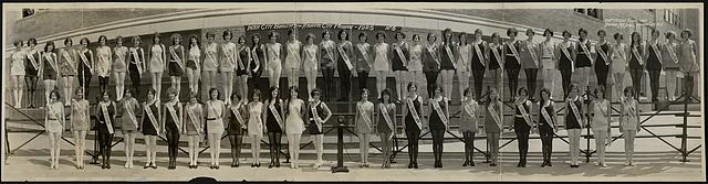 Inter city beauties, Atlantic City Pageant, 1925