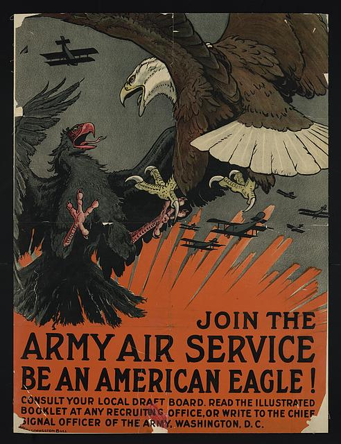Join the Army Air Service, be an American eagle