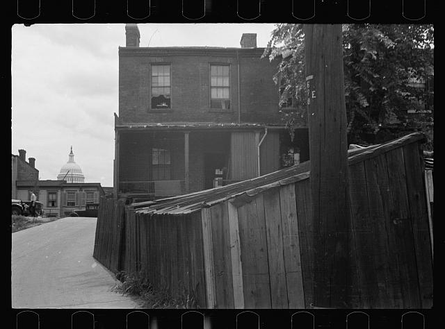 Once with happier surroundings, this section now houses a large crowded Negro population living in most unsanitary conditions, Washington, D.C.