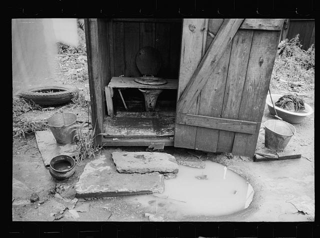 Typical privy in slum section of Washington, D.C.