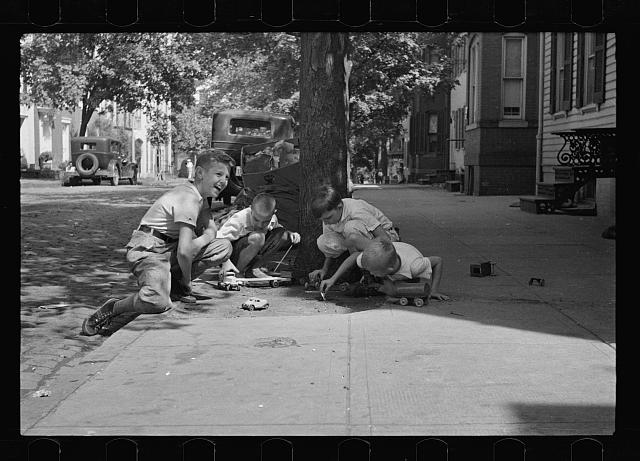 Children at play on street, Georgetown, Washington, D.C.