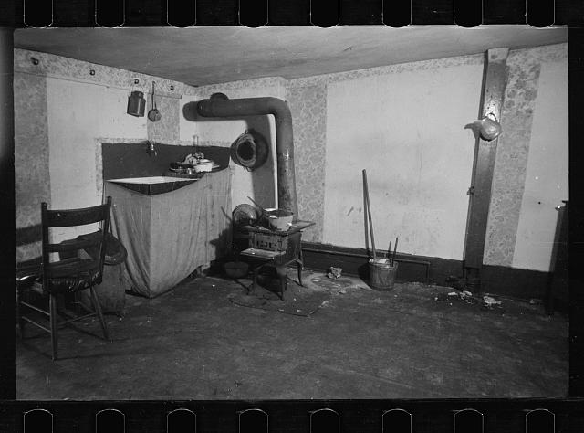 Tenement kitchen shambles, Hamilton Co., Ohio