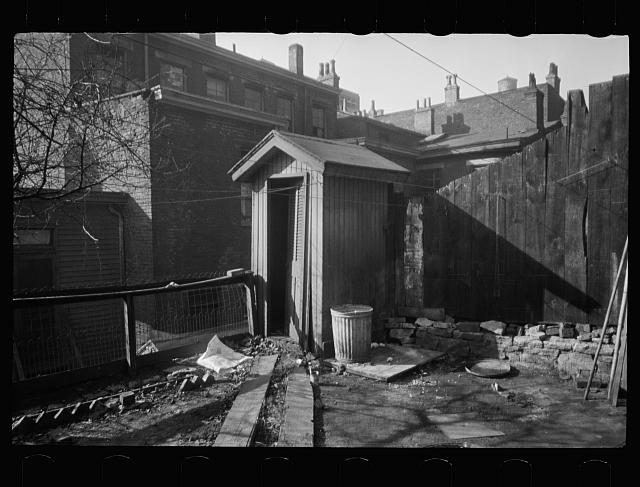 Tenement backyard and privy, Hamilton County, Ohio