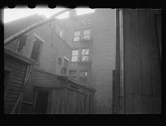 [Untitled photo, possibly related to: Alleyway off Van Horn Street, Hamilton County, Ohio]